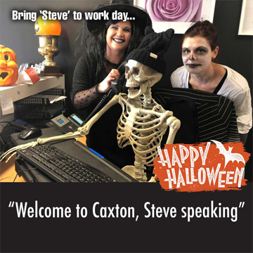 Halloween at Caxton - Arna and Libby