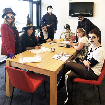 Halloween at Caxton - Office Meeting